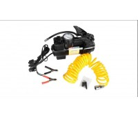Компрессор Автомобильный  MEGAPOWER M-55020 Поршневой двухцилиндровый 150PSI (72л/мин, 30А) с дефлятором, длинный шланг, ОТ КЛЕММ АКБ!