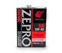 IDEMITSU моторное синт. ZEPRO Racing SN Fully Synthetic 5W-40 (4л) ЯПОНИЯ ПАО+эстеры