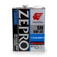 IDEMITSU моторное синт. ZEPRO Touring SN/GF-5 5W-30 (4л) ЯПОНИЯ