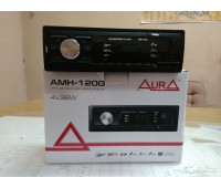 Автомагнитола Aura AMH-120G 4х36w, USB/SD/FM/AUX, 1RCA, зелёная подсветка