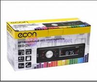 Автомагнитола ECON HED-21U 4*50 Bт, USB/SD/FM/AUX, красная подсветка кнопок, 1RCA.