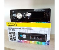 Автомагнитола ECON 4*50 Bт, USB/SD/FM/AUX, голубая подсветка кнопок, 1RCA. HED-23U